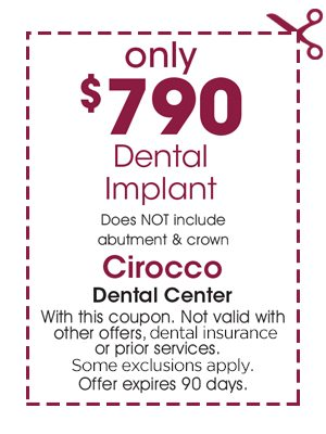Coupon $750 dollars off dental implants