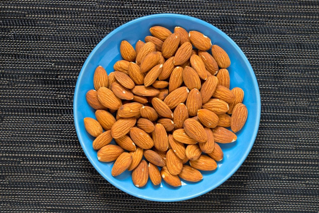 Almonds are high in calcium which helps to strengthen your teeth