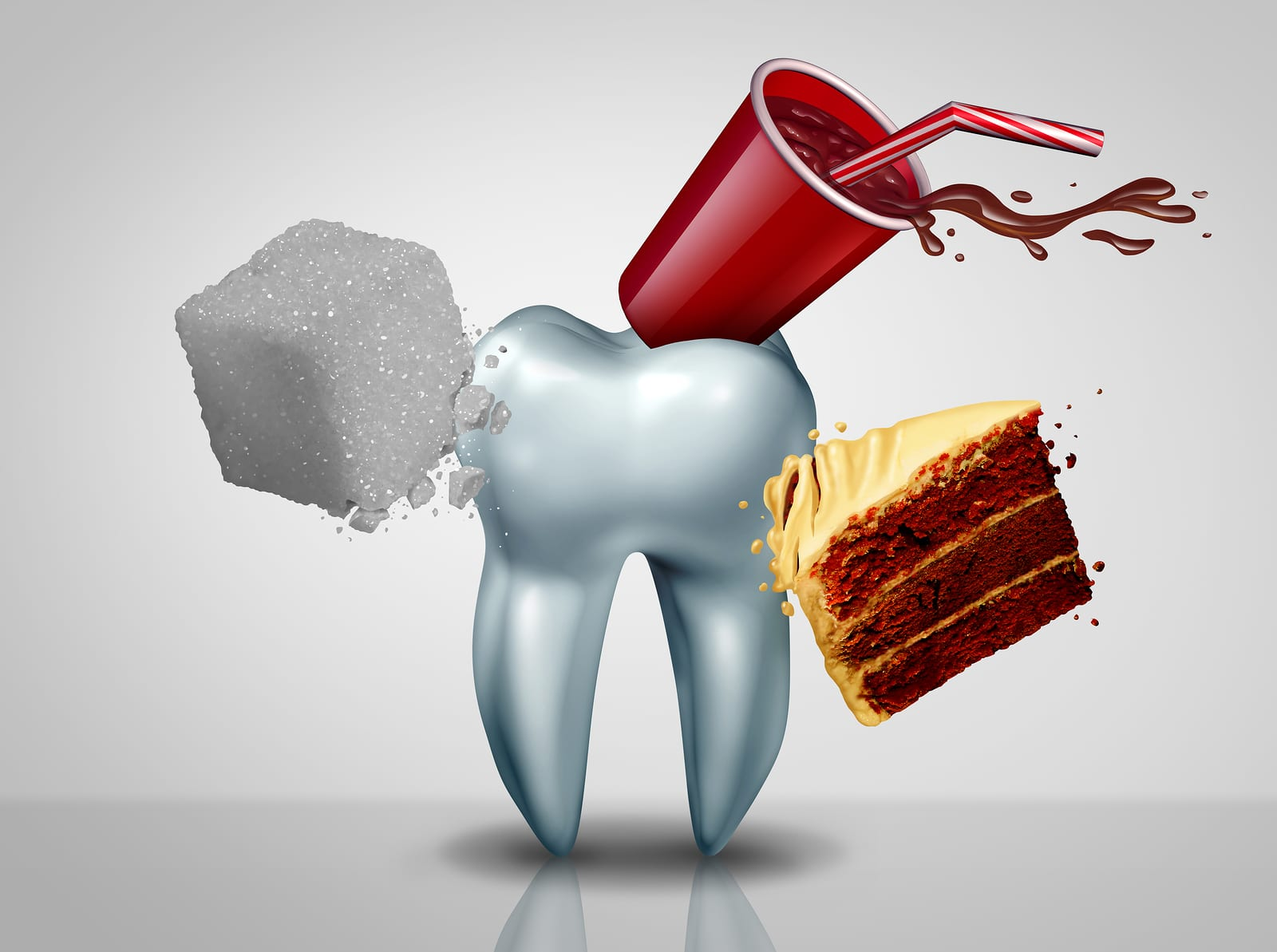 effects of sugar on teeth